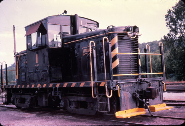 44-Ton Davenport switcher 1 at Newburg, Missouri in July 1963 (Golden Spike Productions)