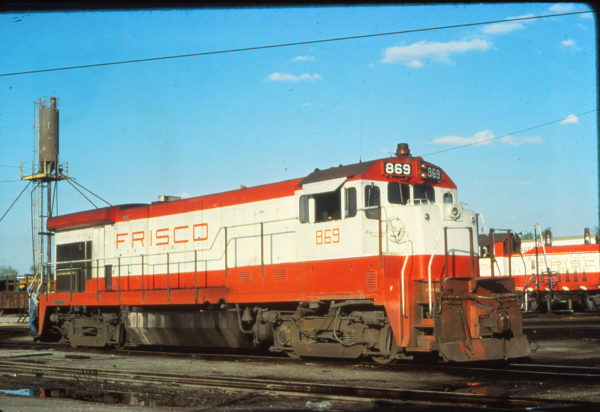 B30-7 869 at St. Louis, Missouri in April 1979 (Vernon Ryder)