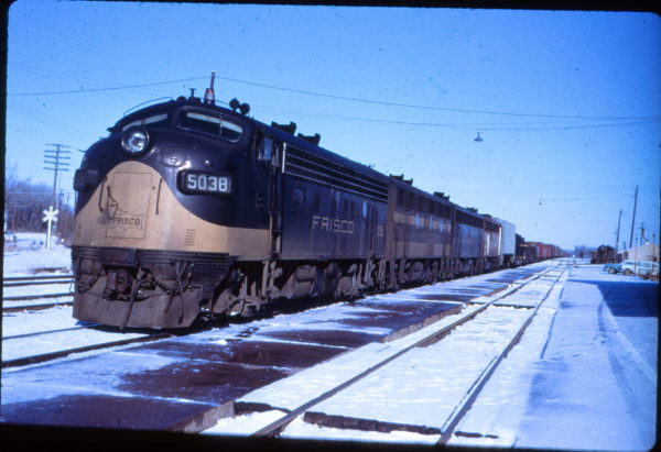 F7A 5038 Southbound at Fort Scott, Kansas (EVDA Slides)