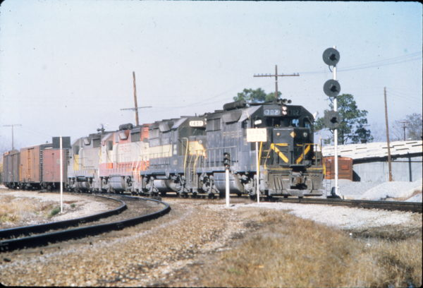 GP35 702 at Waycross, Georgia in January 1970 (Vernon Ryder)