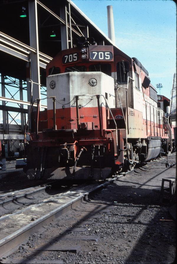 GP35 705 at Salt Lake City, Utah in April 1978