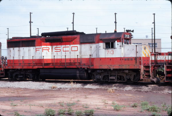 GP35 713 at Tulsa, Oklahoma in August 1977