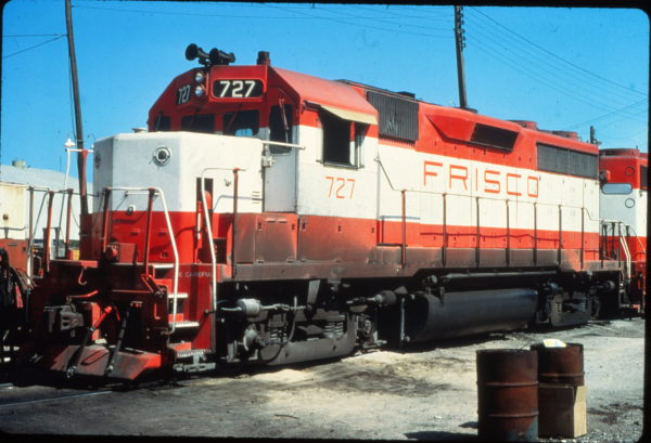 GP35 727 at Fort Worth, Texas in June 1980 (Vernon Ryder)