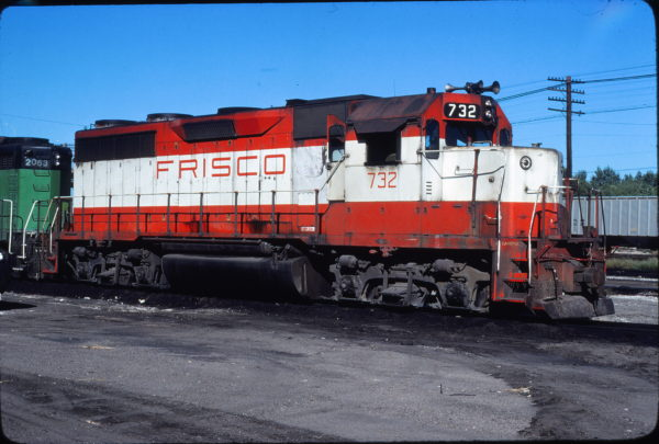 GP35 732 at Omaha, Nebraska in September 1979 (Jerry Bosanek)