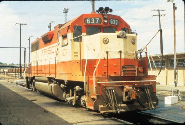 GP38AC 637 in July 1972 (Vernon Ryder)