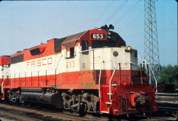 GP38AC 653 at St. Louis, Missouri in August 1980 (Vernon Ryder)