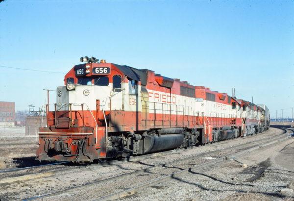 GP38AC 656 at Kansas City, Kansas in February 1977 (Jim Wilson)