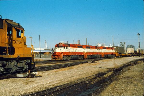GP40-2s 763, 768 and 774 at Tulsa, Oklahoma in November 1979 (Trackside Slides)