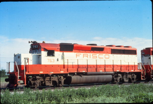 GP40-2 763 at Verdigris, Oklahoma in May 1980 (Vernon Ryder)