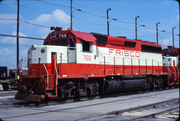 GP40-2 766 at Tulsa, Oklahoma in June 1980 (Harlen Wilson)