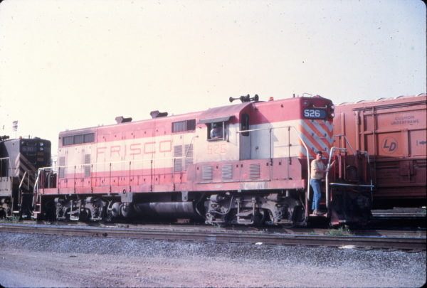 GP7 526 at Birmingham, Alabama in March 1972 (Vernon Ryder)