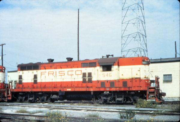 GP7 546 at Birmingham, Alabama in September 1974 (Vernon Ryder)