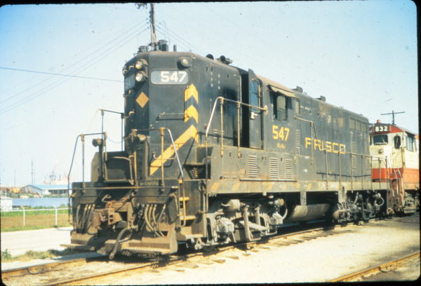 GP7 547 at Mobile, Alabama in May 1974 (Vernon Ryder)