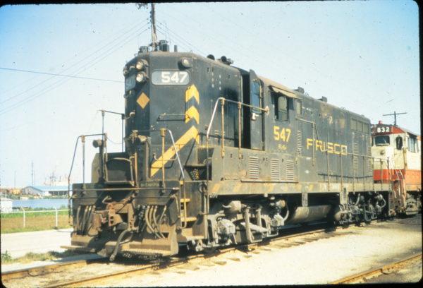 GP7 547 at Mobile, Alabama in May 1974 (Vernon Ryder)