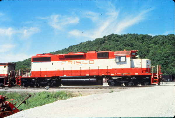 SD38-2 297 at Tulsa, Oklahoma in May 1980 (Vernon Ryder)