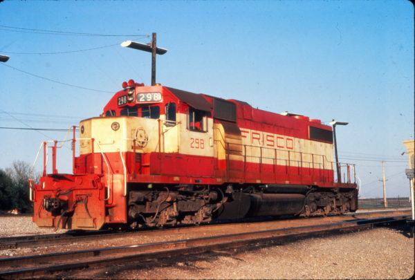 SD38-2 298 at Memphis, Tennessee in May 1980 (Vernon Ryder)