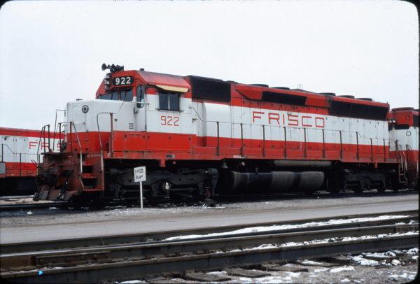 SD45 922 at Springfield, Missouri in January 1980