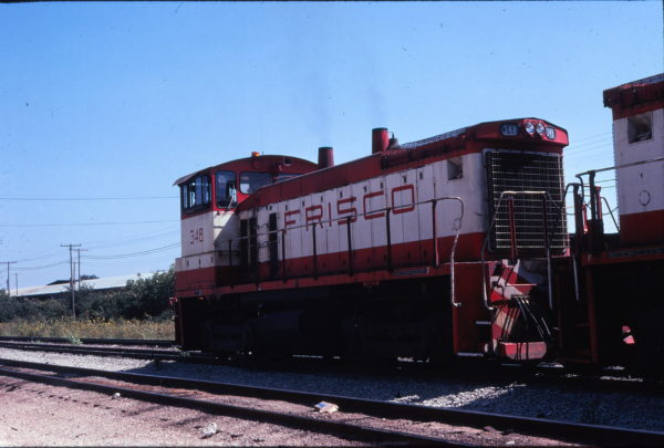 SW1500 348 at Springfield, Missouri in September 1978