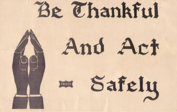 Be Thankful and Act Safely