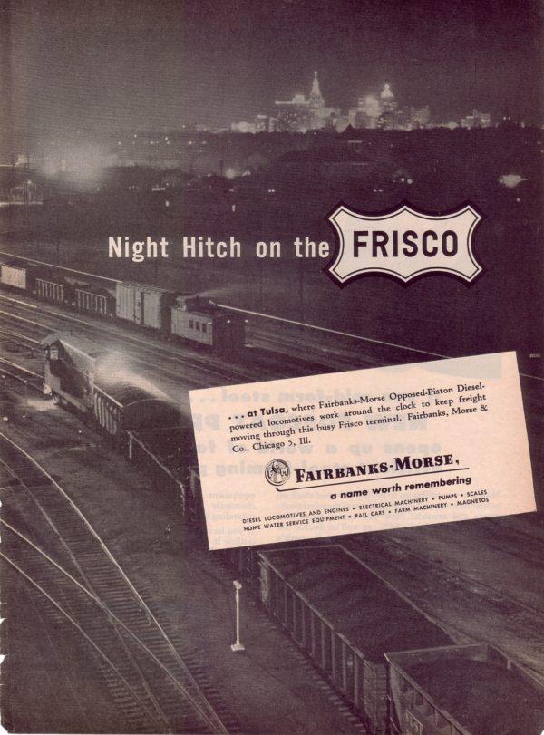 Fairbanks-Morse advertisement featuring Frisco content