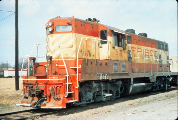 GP7 510 at Fort Worth, Texas in February 1976 (Vernon Ryder)
