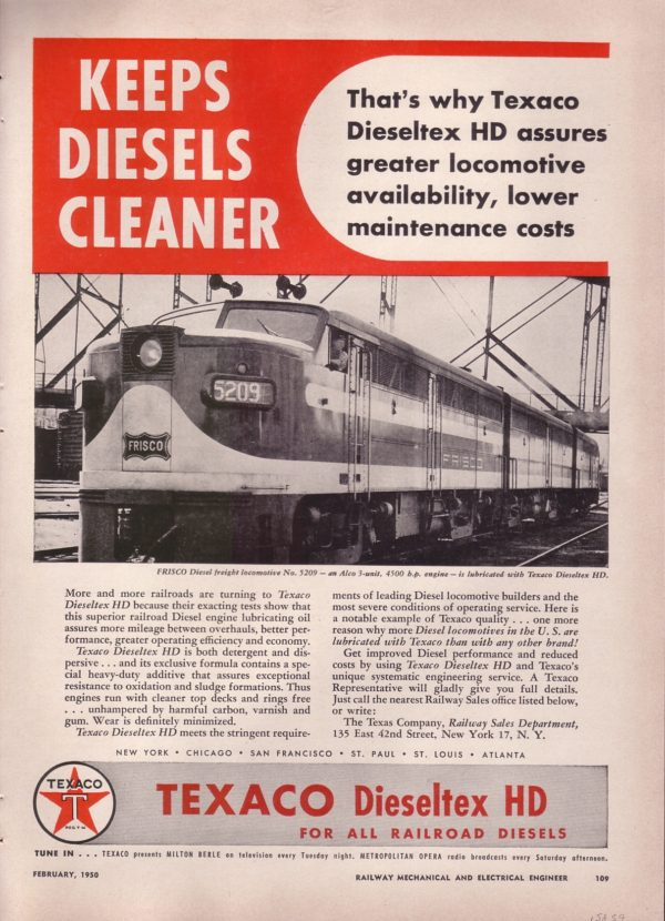 Texaco - Keeps Diesels Cleaner