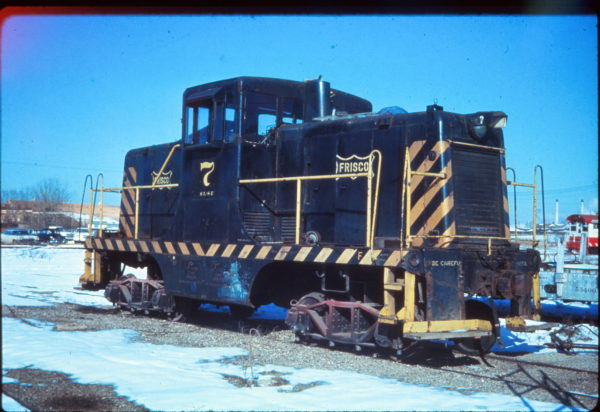 44-Ton GE Switcher 7 at Tulsa, Oklahoma in January 1971 (EVDA Slides)