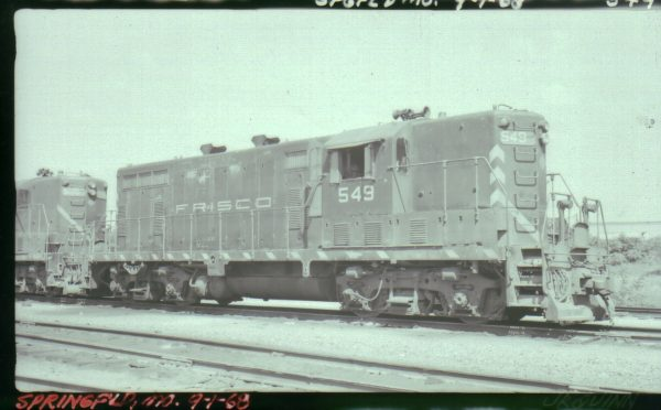 GP7 549 at Springfield, Missouri on September 1, 1968