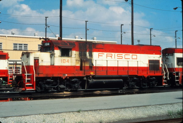 GP15-1 104 at Tulsa, Oklahoma in June 1980 (Vernon Ryder)