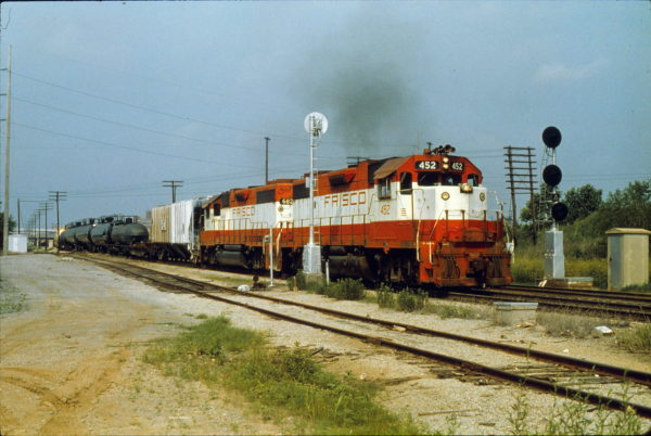GP38-2 452 at Tulsa, Oklahoma in May 1980 (Trackside Slides)