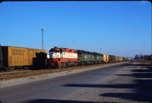 GP38-2 456 at Memphis, Tennessee in January 1981 (Lon Coone)