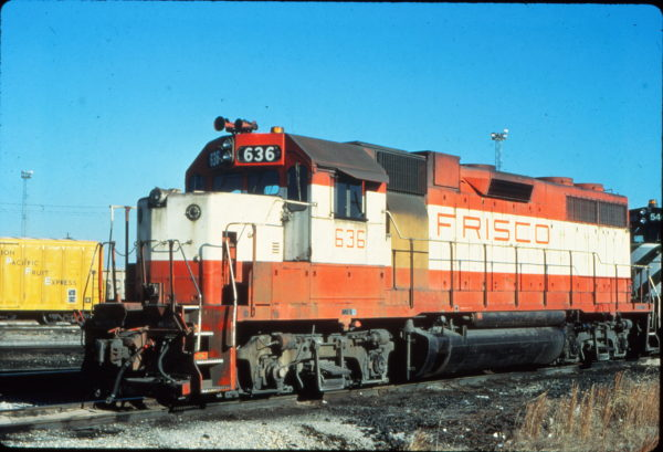 GP38AC 636 at Memphis, Tennessee in January 1981 (Vernon Ryder)