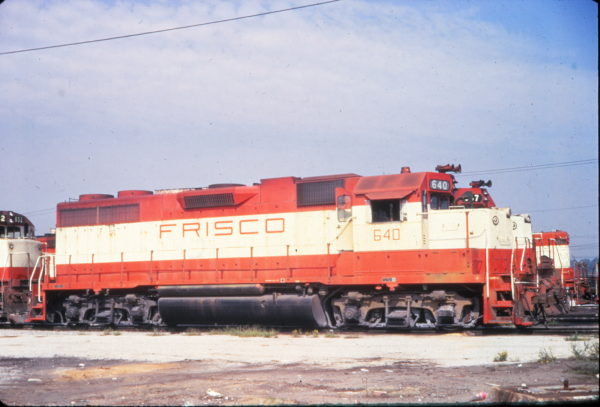 GP38AC 640 at Birmingham, Alabama in September 1974 (Vernon Ryder)
