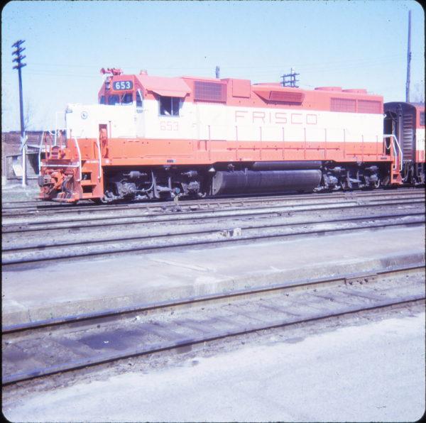 GP38AC 653 at Parsons, Kansas in April 1971 (Dave Ebbs)