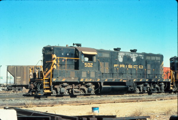 GP7 502 at Memphis, Tennessee in January 1976 (Vernon Ryder)