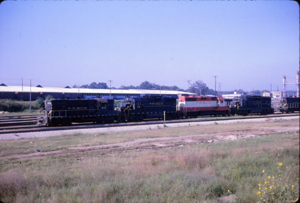 GP7 570 and GP35s 708, 718 and 702 (location unknown) in October 1965