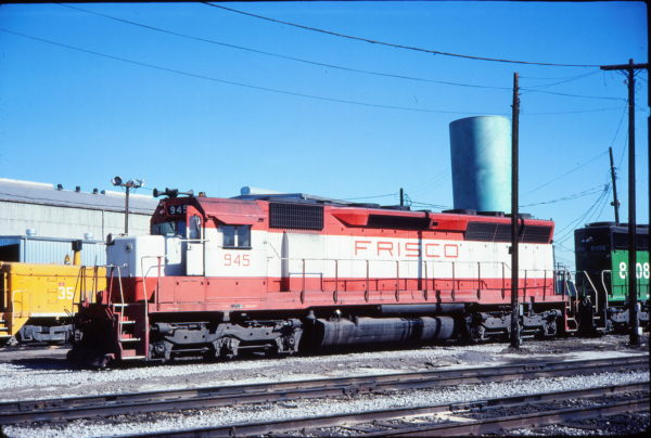 SD45 945 (location unknown, possibly in December 1981)
