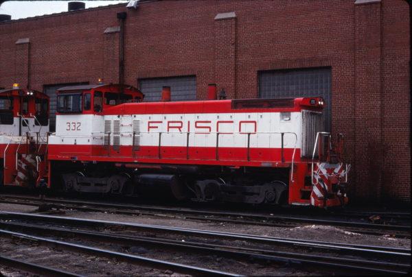 SW1500 332 at St. Louis, Missouri in April 1978