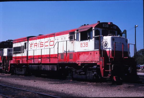 U30B 838 at Springfield, Missouri in September 1978