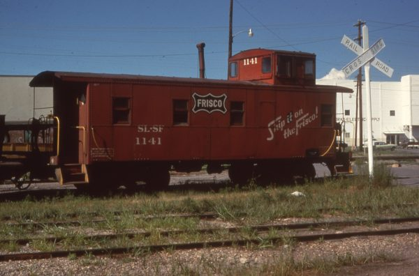 Caboose 1141 at Muskogee, Oklahoma in September 1978