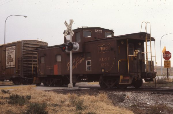 Caboose 1275 at Lincoln, Nebraska in December  1978 (JC Butcher)