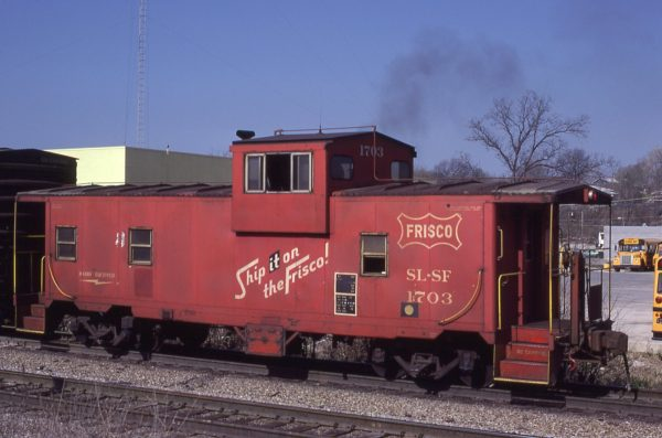 Caboose 1703 at Merriam, Kansas on April 19, 1980 (John Benson)