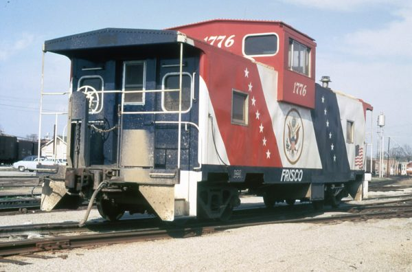 Caboose 1776 at Fort Smith, Arkansas in April 1973