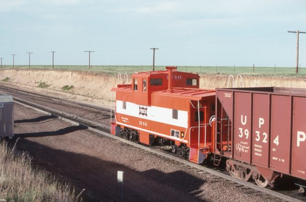 Caboose 1240 at Speer, Wyoming on June 12, 1978 (DJ Mulhearn)