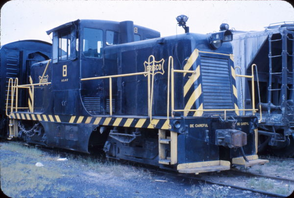 GE 44 Ton Switcher 8 at Springfield, Missouri in August 1963 (Stanley McCarthy)