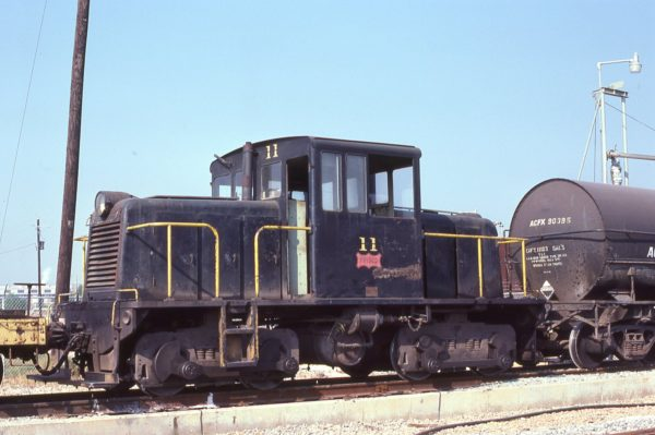 GE 45-Ton 11 at Mobile, Alabama on October 25, 1978 (Paul Wilshaw)