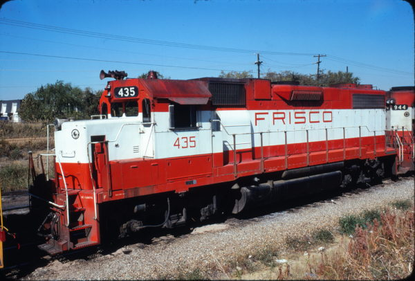 GP38-2 435 at Fort Worth, Texas in November 1978