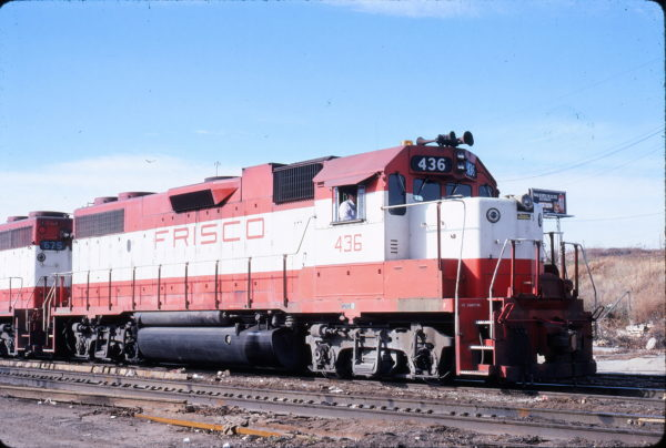 GP38-2 436 at Kansas City, Kansas in November 1979 (Gary Powell)