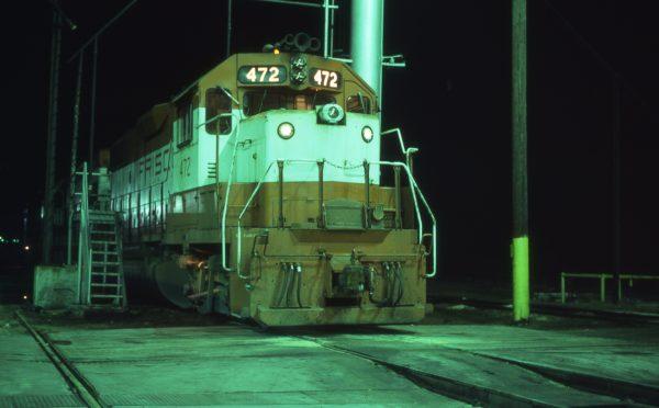 GP38-2 472 at Tulsa, Oklahoma on November 27, 1980 (DA Stray)