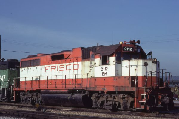 GP38AC 2112 (ex-635) at Tulsa, Oklahoma on September 4, 1981 (RA Plazzotta)